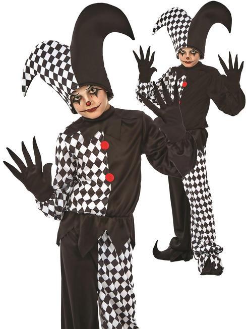 Boy's Evil Jester Costume