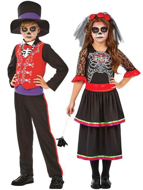 Child's Day Of The Dead Costume