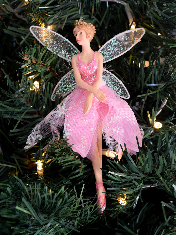 Gisela graham christmas tree ballerina fairy decoration for Ballerina tree decoration