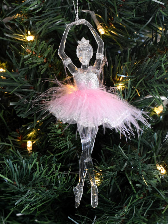 Gisela Graham Ballerina Fairy Christmas Tree Decoration Hanging Pink Acrylic | EBay