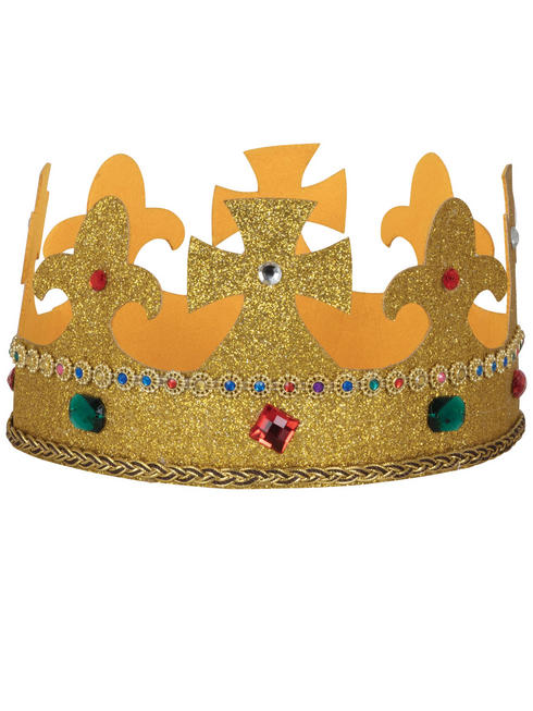 Adult's Fabric King Crown