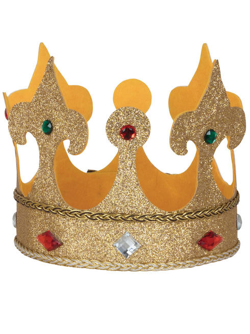 Adult's large Fabric King Crown