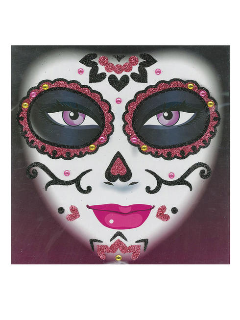 Pink Day of the Dead Tattoo Kit