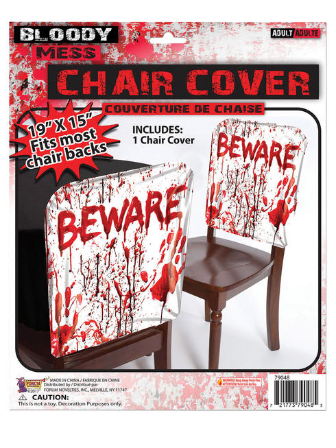 Bloody Party Beware Chair Cover
