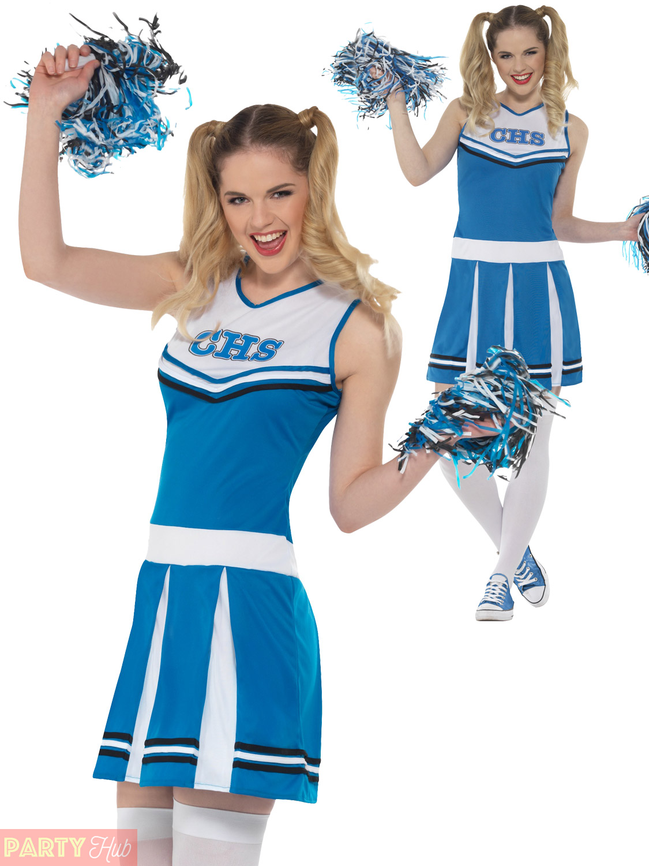 ladies cheerleader costume adults school fancy dress