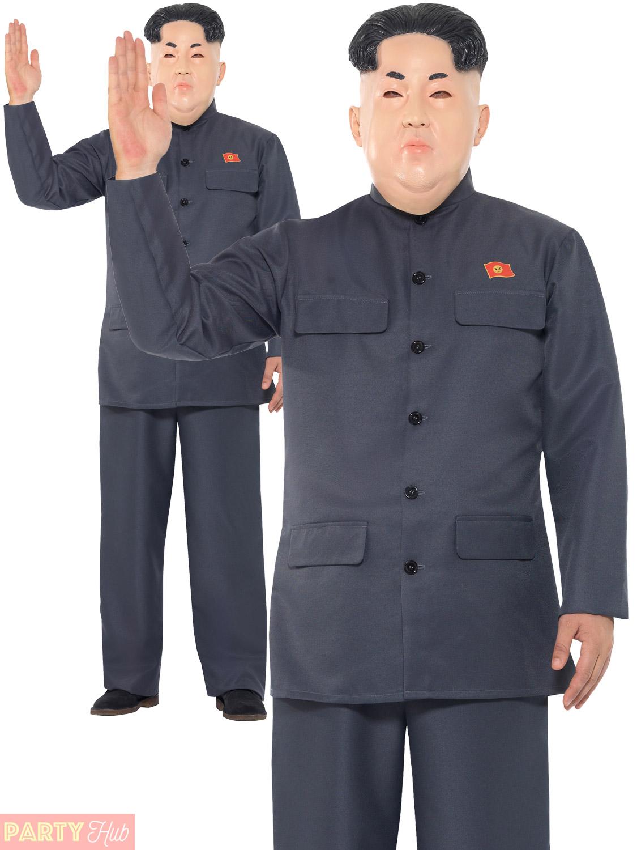 Korean Dictator Costume Mens Adult Kim Jong Un Fancy Dress Halloween President Ebay