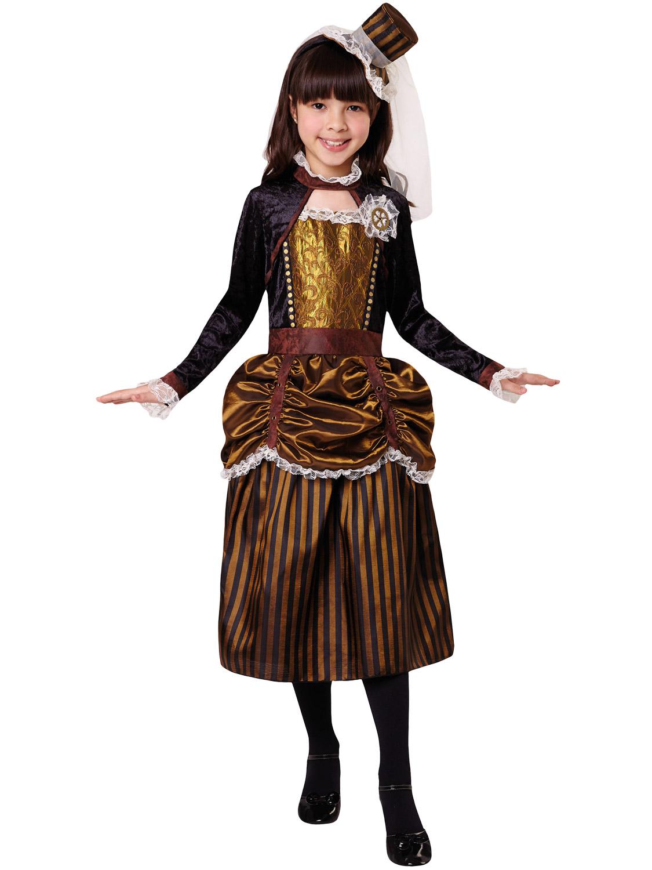 Girls Steampunk Costume Childs Victorian Halloween Fancy ...