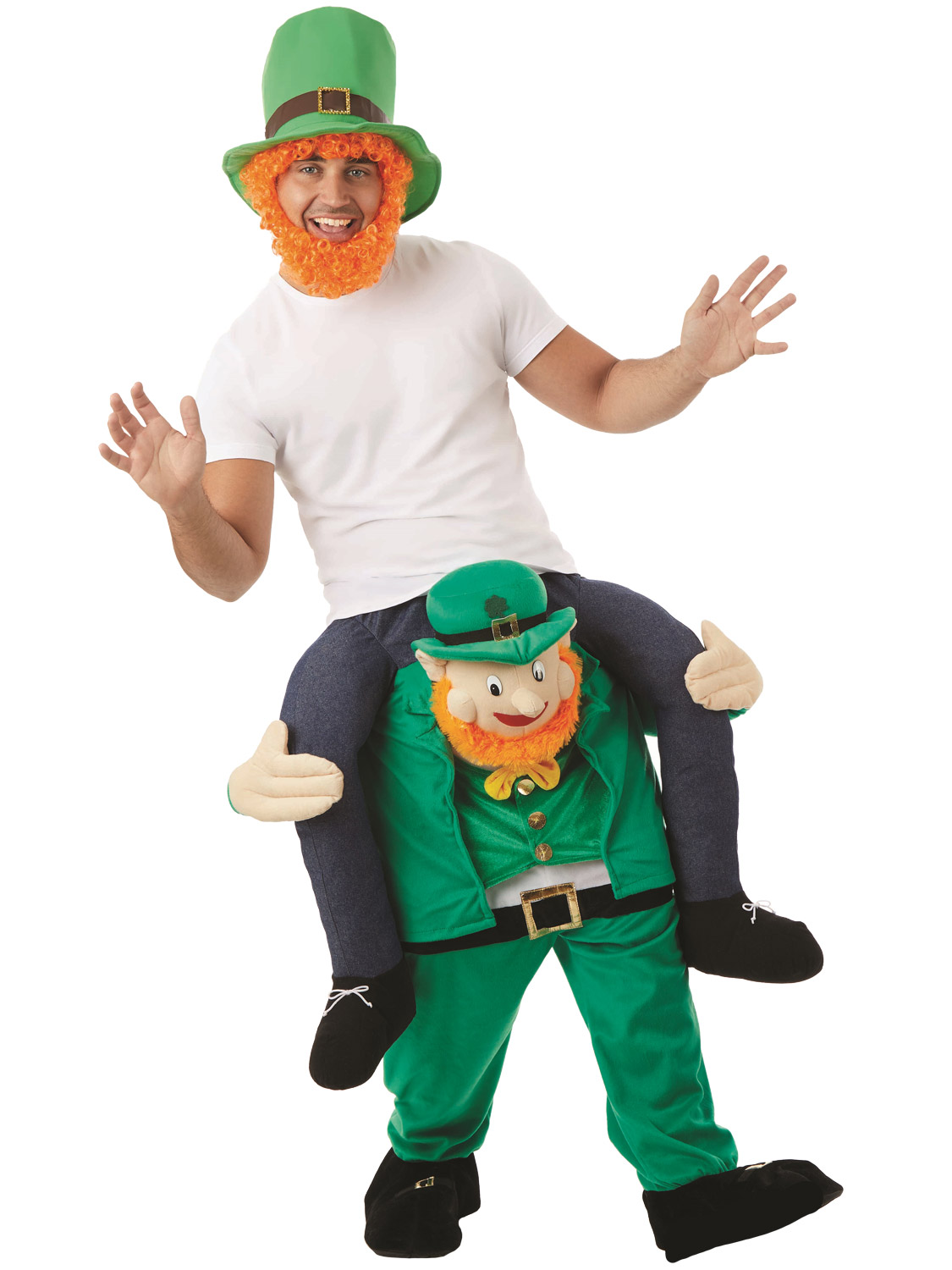Turn heads this St Patricks Day with this Novelty Irish Leprechaun themed Lift Me Up Costumesu2026 Perfect for a Stag Party too!  sc 1 st  eBay : irish costumes  - Germanpascual.Com