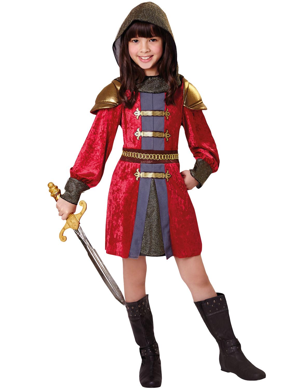 girls knight princess costume childs medieval fancy dress kids