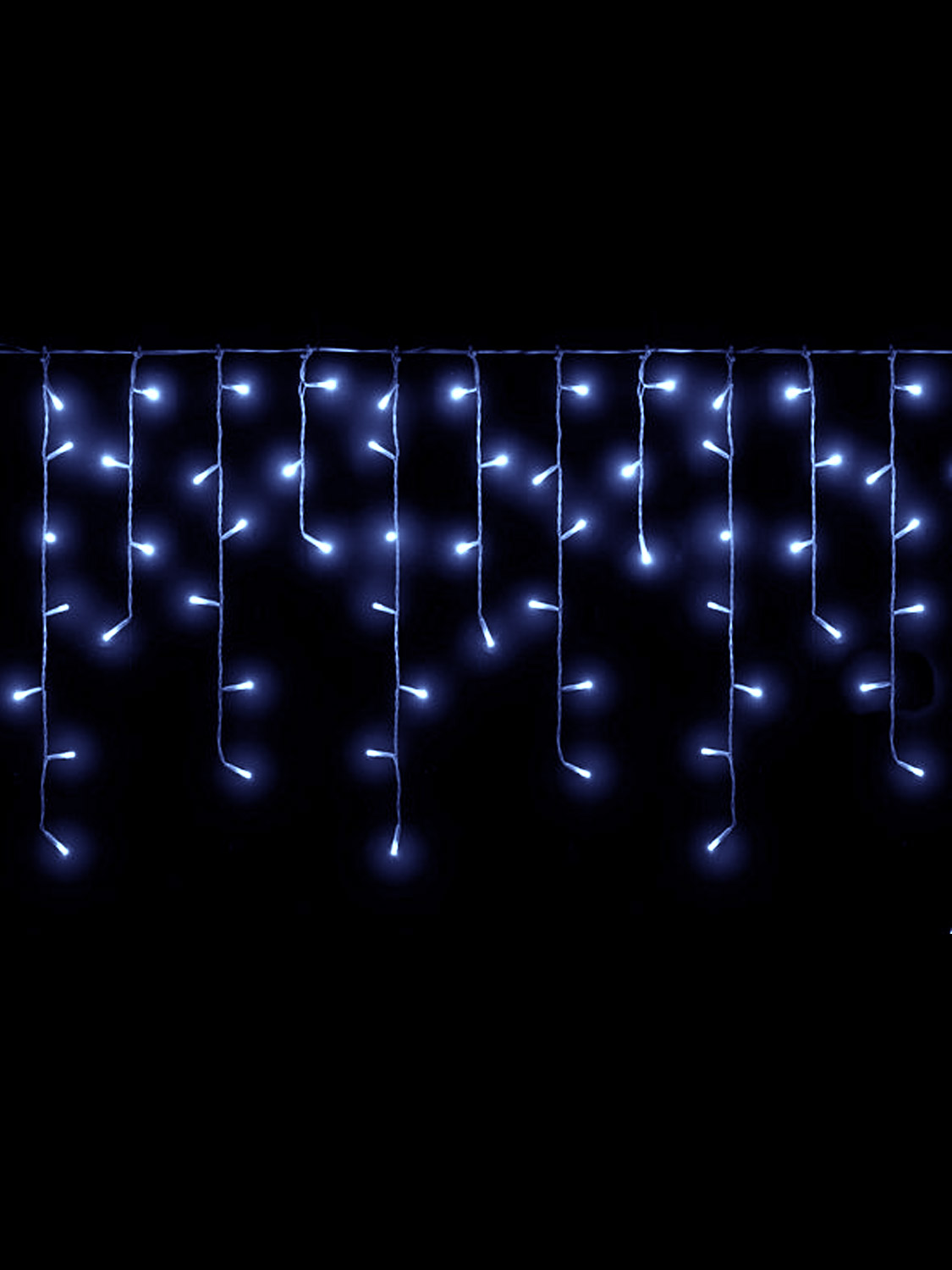 Icicle-Lights-Christmas-Outdoor-Indoor-LED-360-480-720-Ice-Blue-Warm-White thumbnail 4