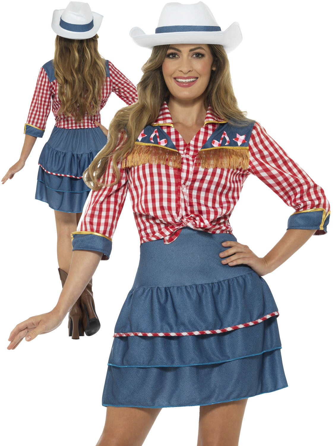 Ladies cowgirl costume adult rodeo doll fancy dress womens western transform yourself into a cowgirl with this ladies rodeo doll costume perfect for a western themed party solutioingenieria Choice Image