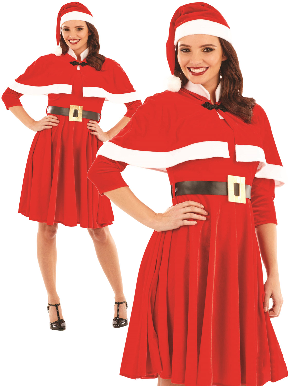 Ladies santa mrs claus costume adults father christmas fancy dress transform yourself into a sophiscated mrs claus with this ladies christmas costume perfect if you are going out this xmas solutioingenieria Images