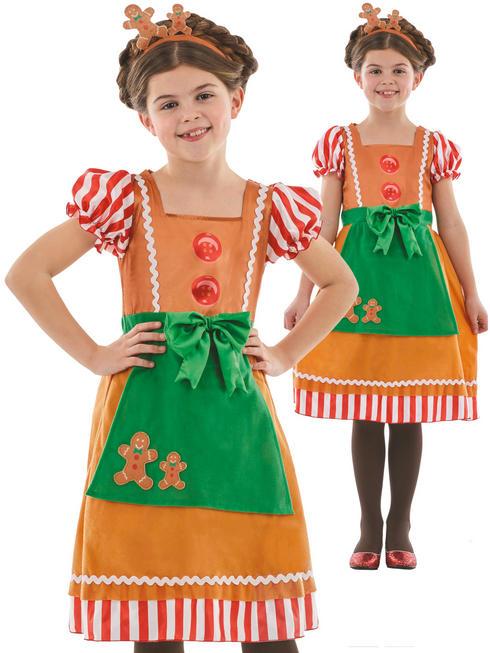 Girl's Little Miss Gingerbread Costume
