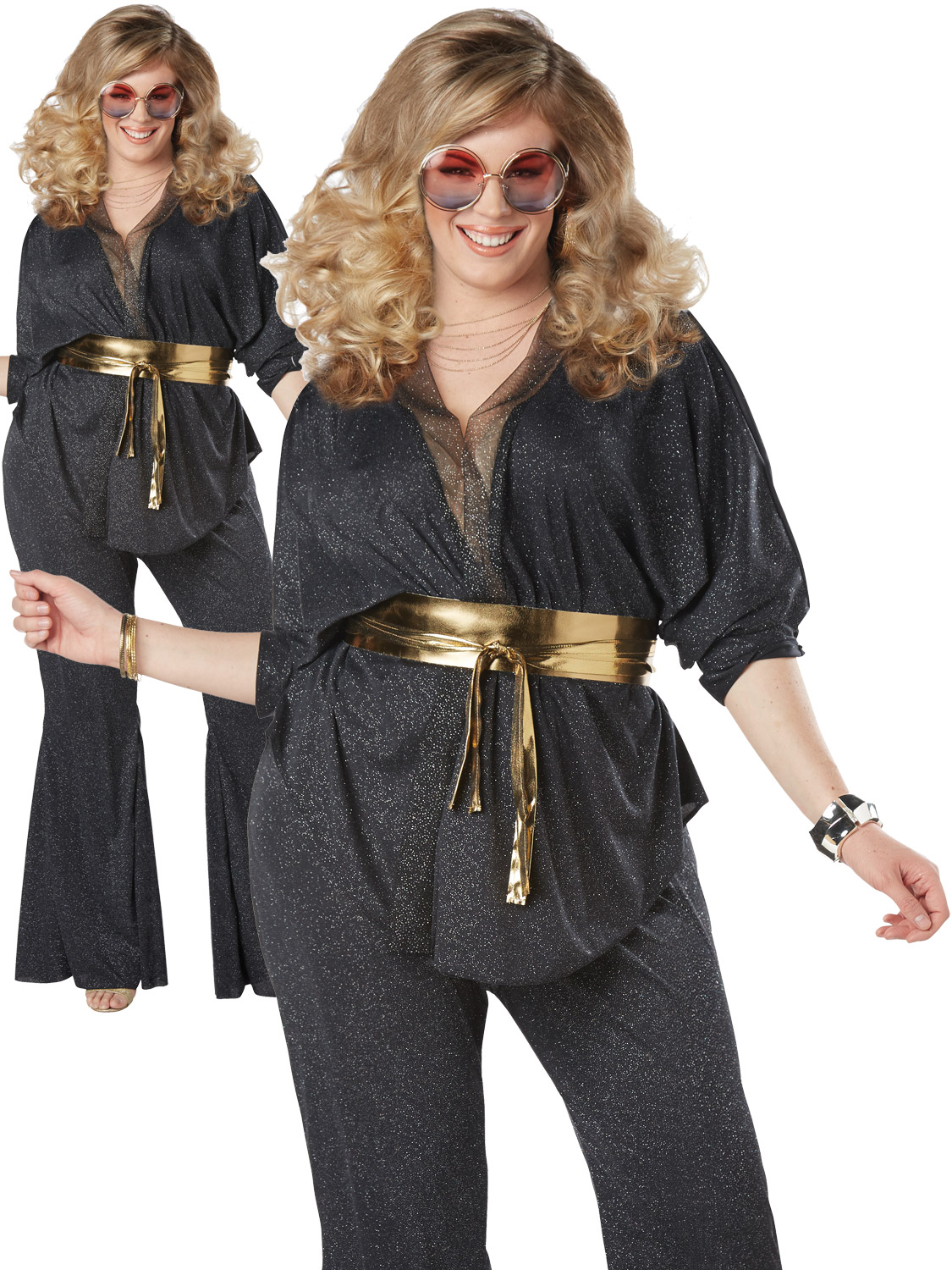 Ladies Plus Size Disco Dazzler Costume