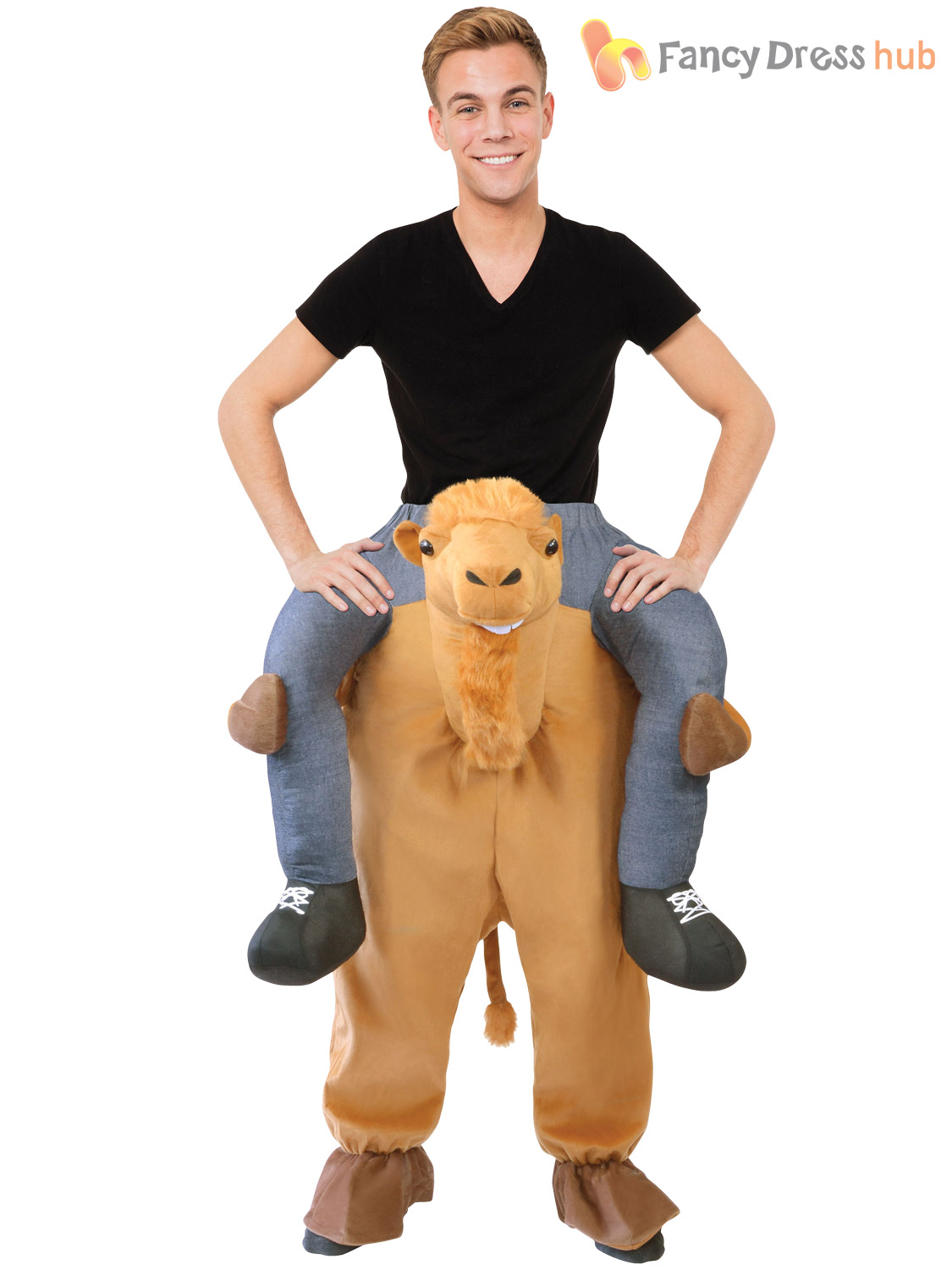 Adult-Animal-Piggy-Back-Costume-Men-Ladies-Pick-