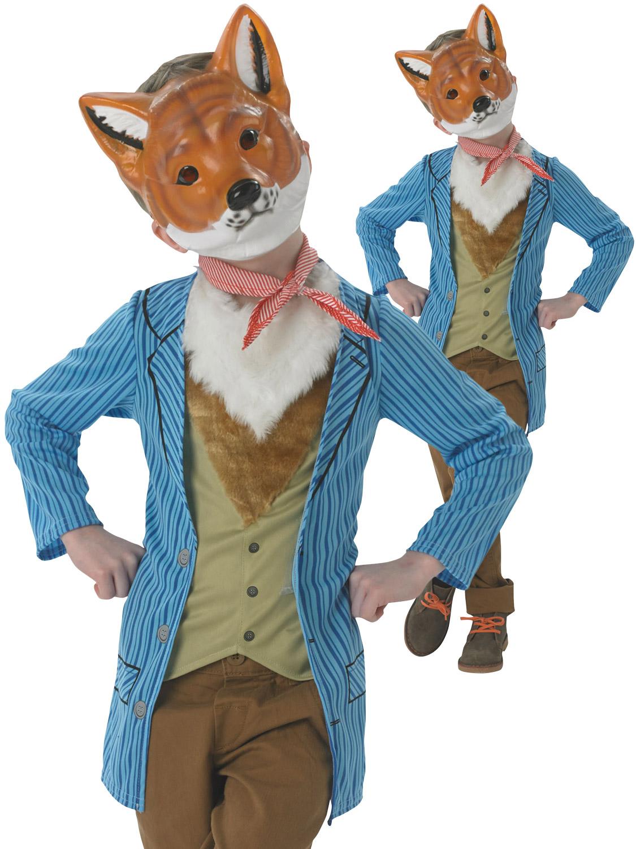 Boys Mr Fox Costume Childs Fantastic Fairytale Fancy Dress Kids Book Week Outfit Ebay