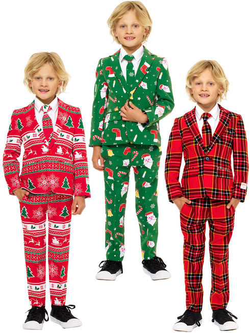 Boy's Christmas Oppo Suits