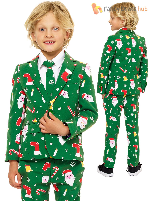 Childs Deluxe Christmas Opposuit Boys Xmas Festive Oppo Suit Fancy ...