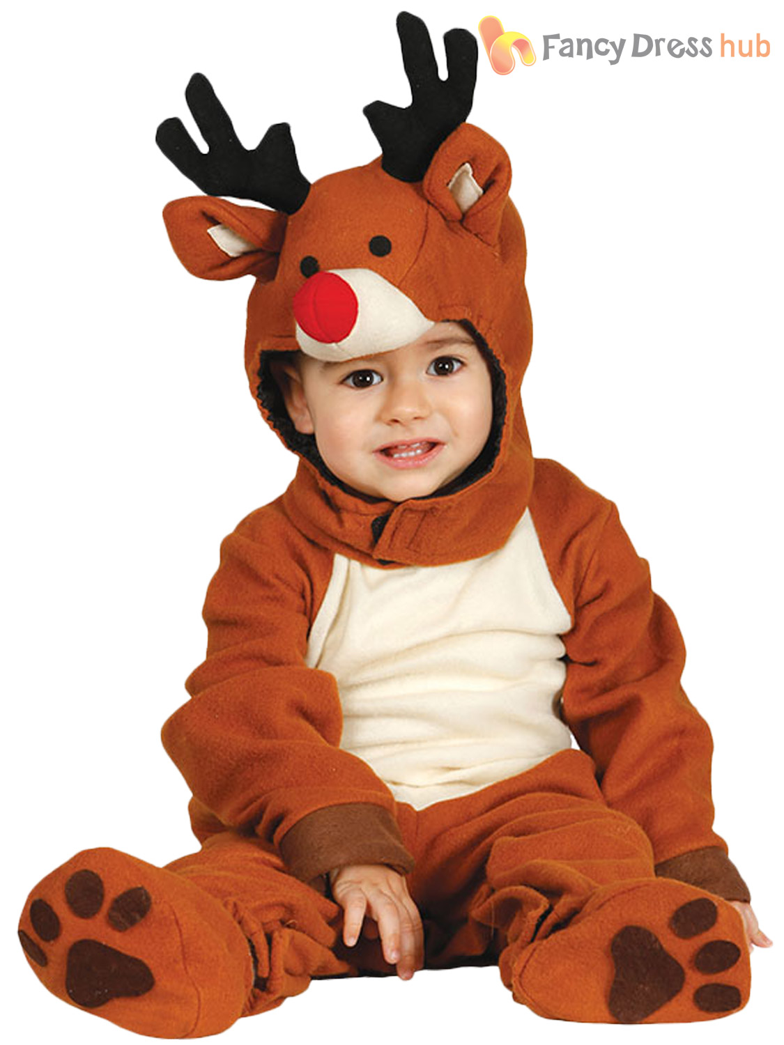 baby toddler christmas xmas reindeer fancy dress costume outfit