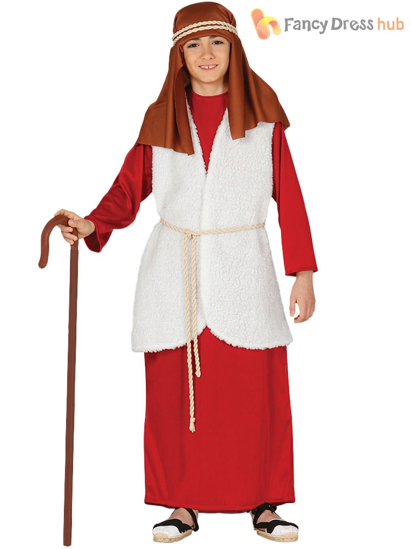 Childs-Shepherd-Costume-Boys-Girl-Christmas-Nativity-Fancy-  sc 1 st  eBay & Childs Shepherd Costume Boys Girl Christmas Nativity Fancy Dress ...