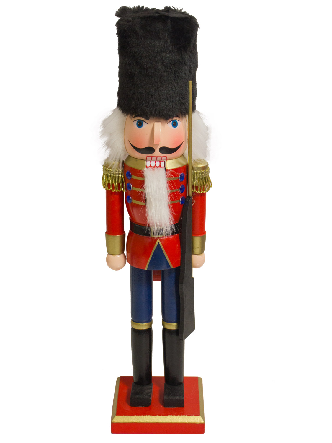 39cm 15 034 traditional wooden nutcracker soldier christmas
