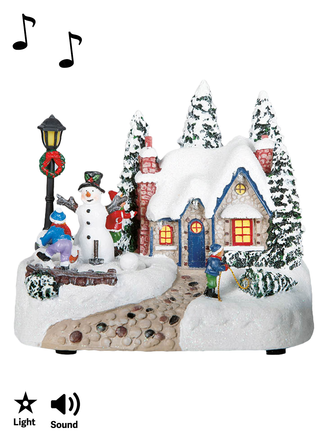 Animated village christmas scene pre lit led light up for Animation decoration noel