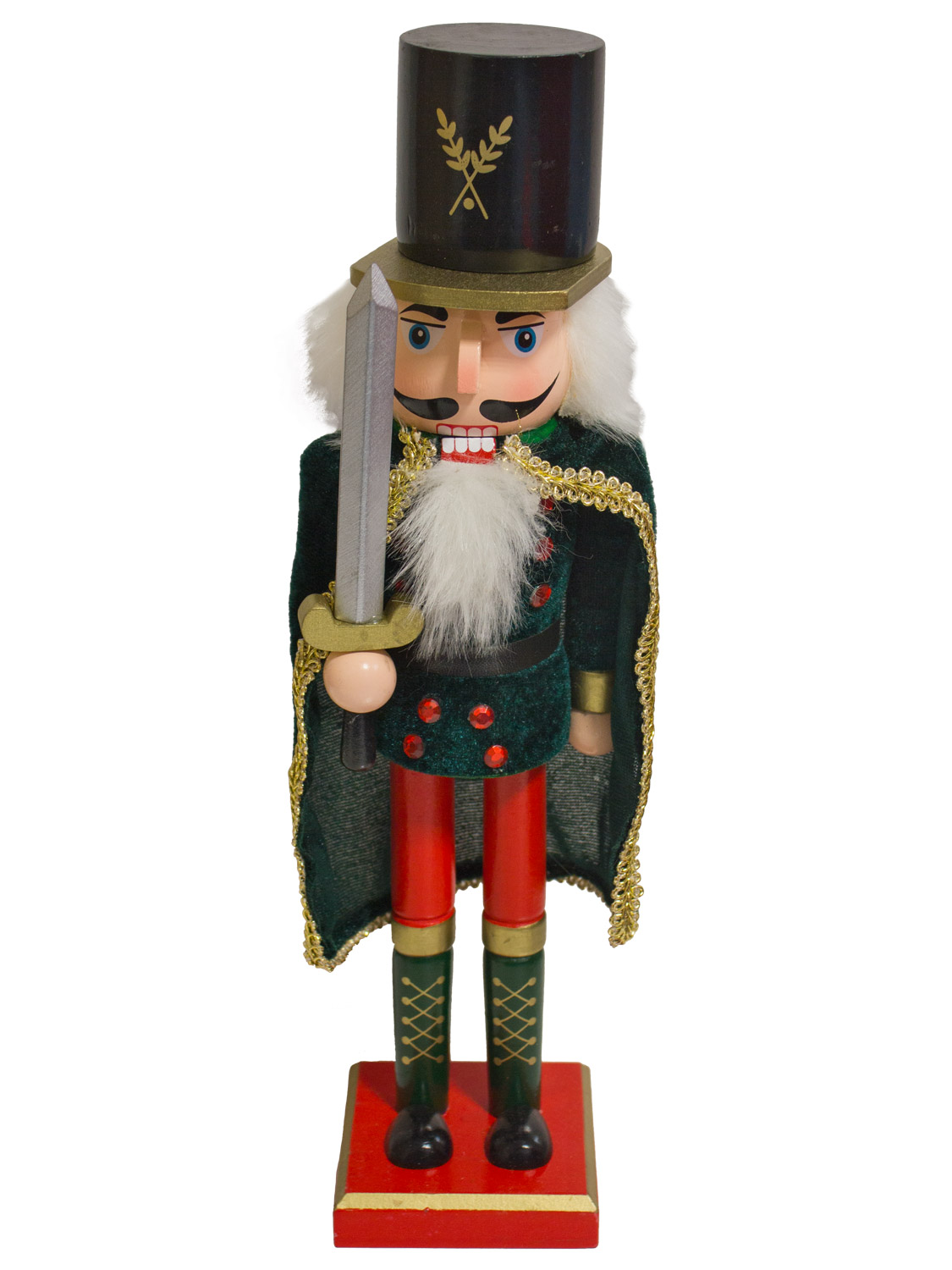 "39cm/ 15"" Traditional Wooden Nutcracker Soldier Christmas ..."