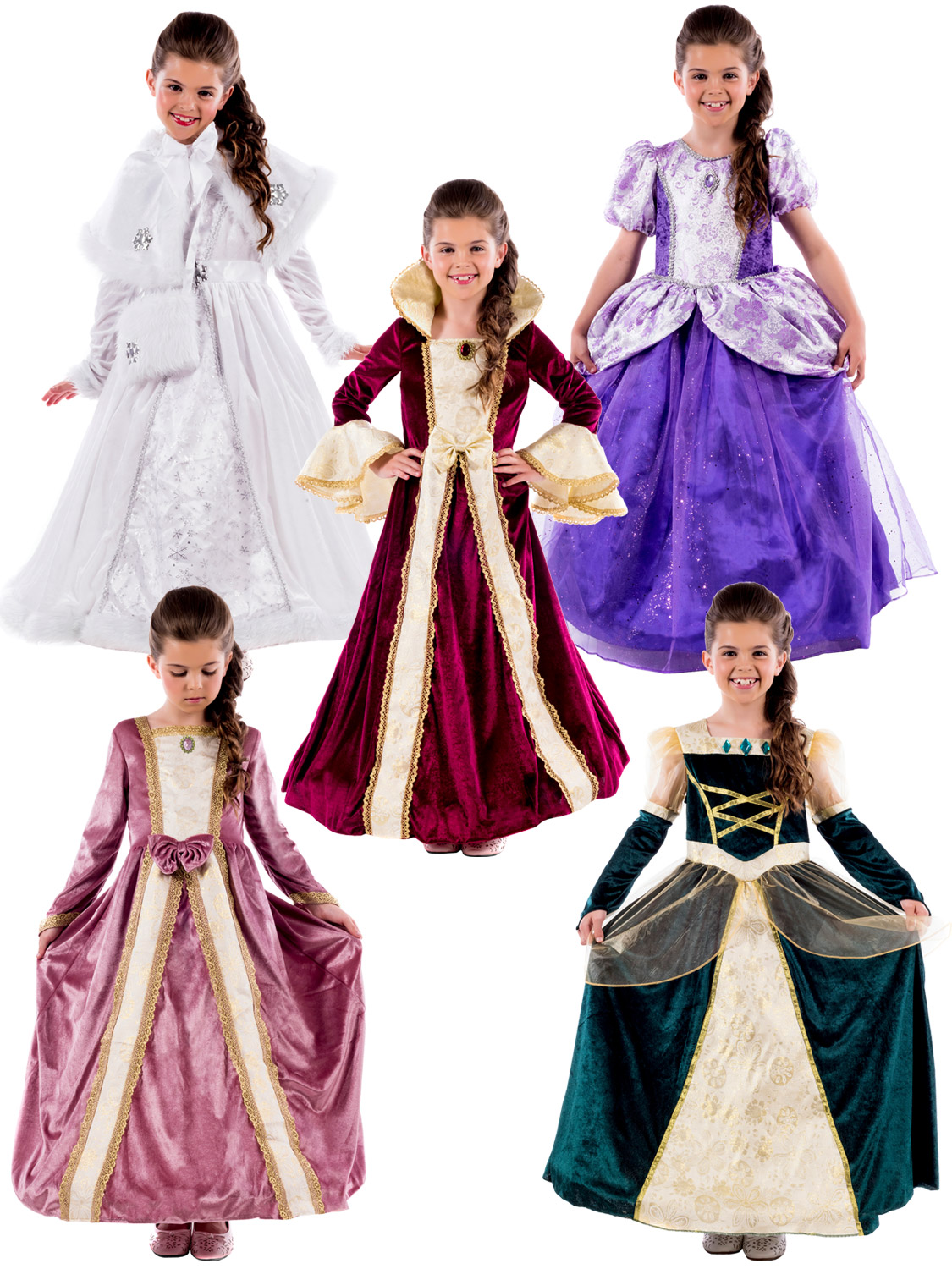 Girl\'s Royal Ball Gown Costume | All Children | Fancy Dress Hub