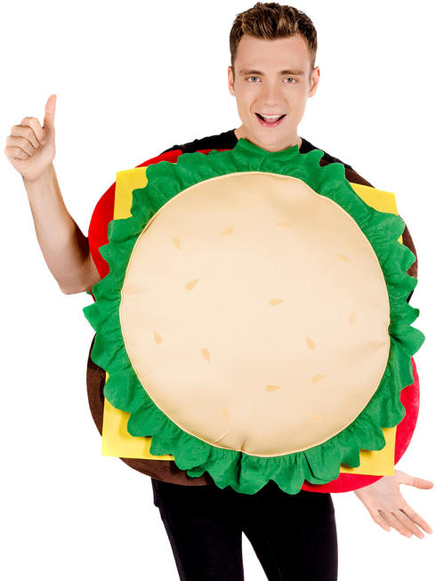 Adult's Cheese Burger Costume