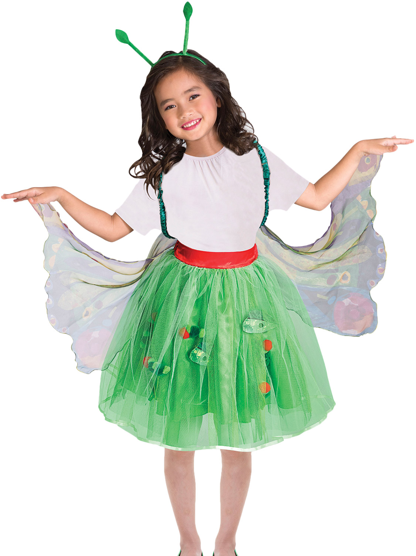Girl boys Caterpillar Costume Kids Hungry School book week Fancy Dress outfit