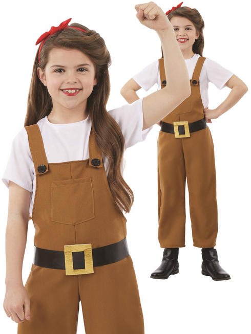 Girl's Land Girl Costume