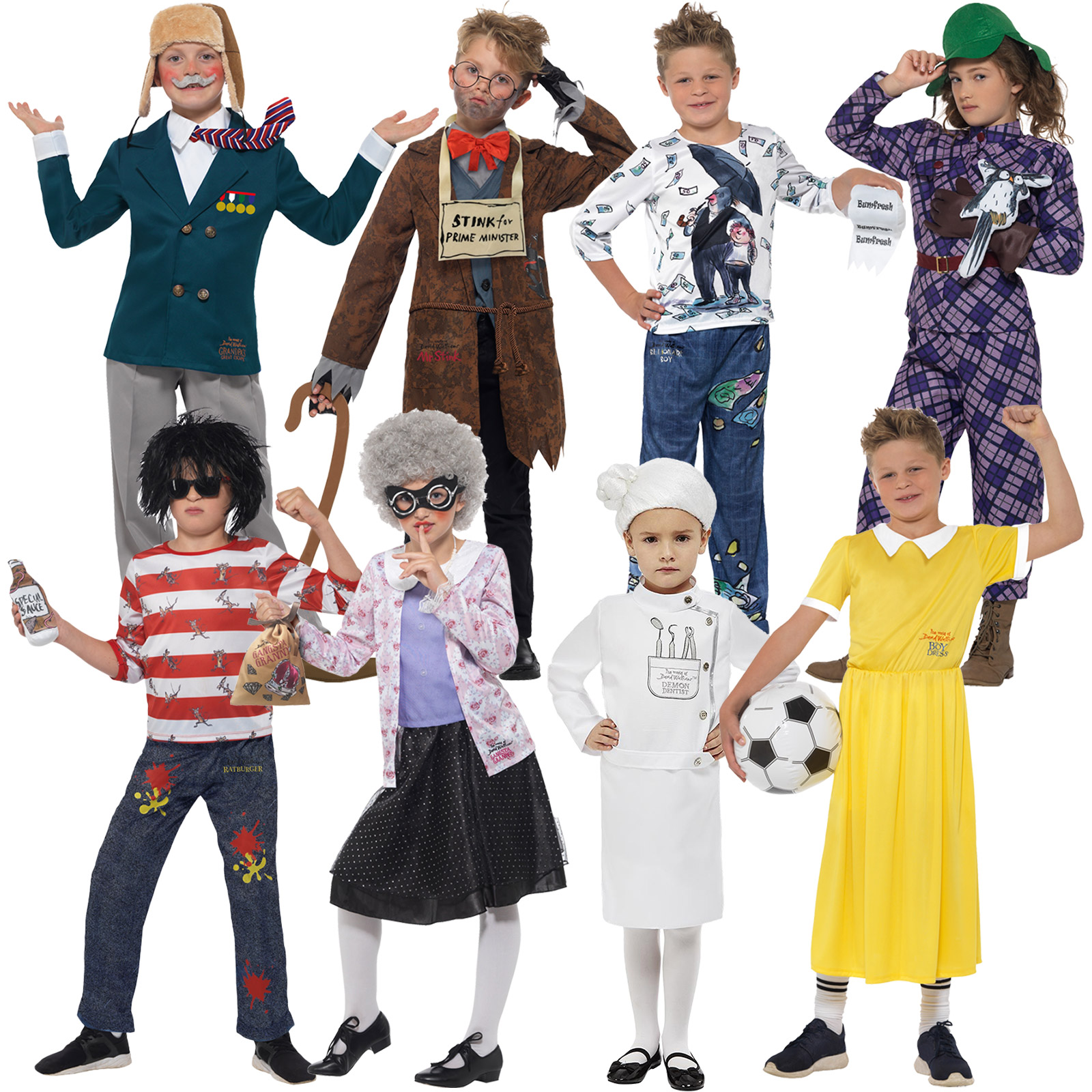 Billionaire Boys Costume kids David Walliams school book week Fancy Dress Outfit