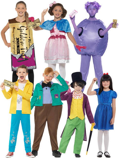 Childs Roald Dahl Charlie Choc Fact Costume
