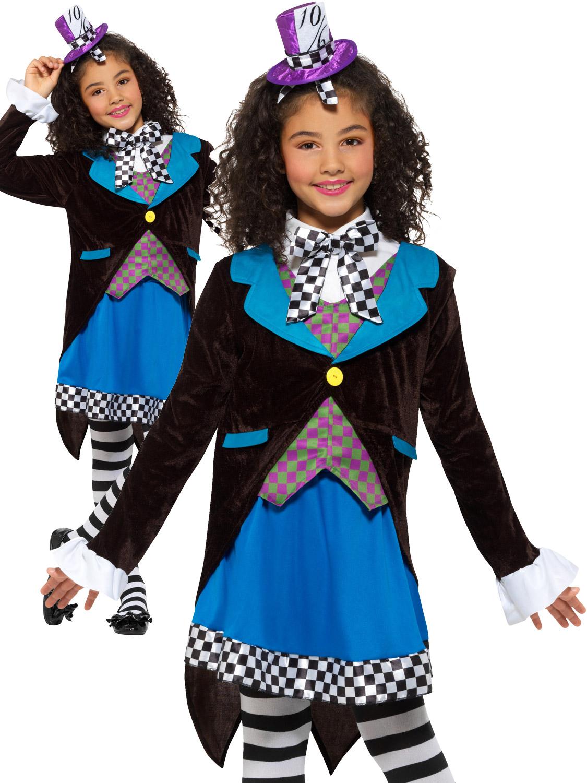 Alice nel Paese delle Meraviglie Ragazze Costume Bambini fairtytale Giornata Mondiale del Libro Costume