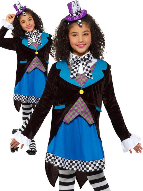 Girl's Little Miss Hatter Costume