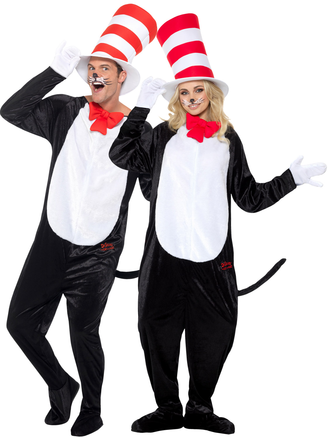 Adults cat in the hat costume mens ladies dr seuss fancy dress book transform yourself into dr sues from the well know story book cat in the hat with this adults costumes ideal if you are dressing up for book week day solutioingenieria Images