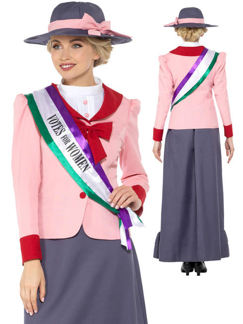 Ladies Girl's Victorian Suffragette Costume