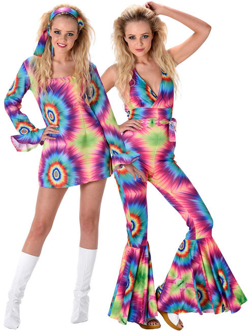 Ladies Tie Dye Dress / Jumpsuit Costume