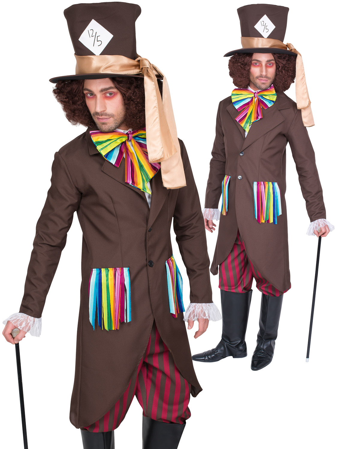 Pairs With Dark Alice Mad Hatter Mens Costume Dark Mad Hatter Men/'s Costume