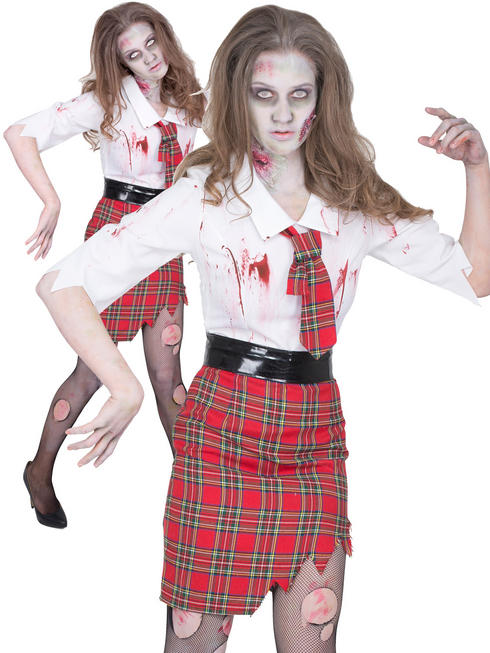 Ladies Zombie School Teacher Costume