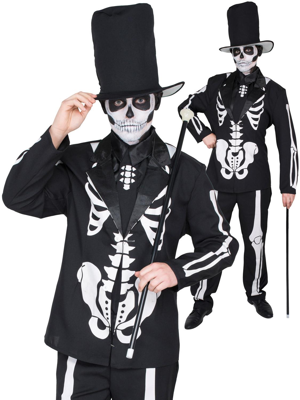 2692216ac76d Men's Day Of The Dead Skeleton Suit Costume | All Halloween | Fancy Dress  Hub