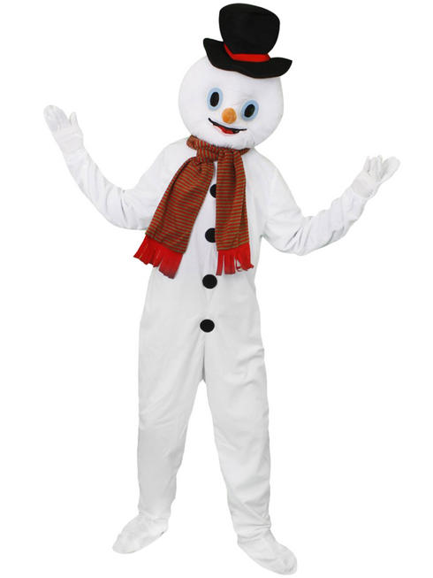 Adults Snwoman Christmas Mascot Costume