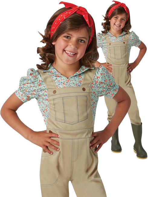 Girl's Ww2 Land Girl Costume