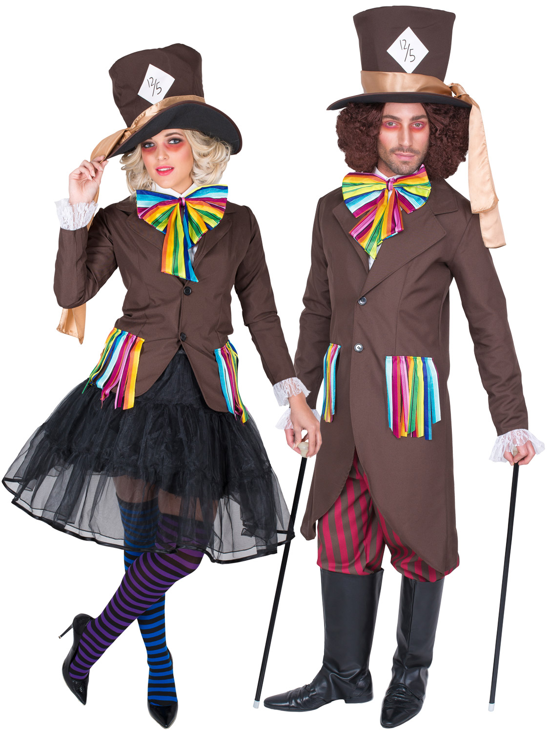 Adult mad hatter costume men ladies alice fairytale fancy dress book transform yourself into the mad hatter with either of the mens or ladies alice in wonderland themed costumes perfect for world book week day solutioingenieria Images