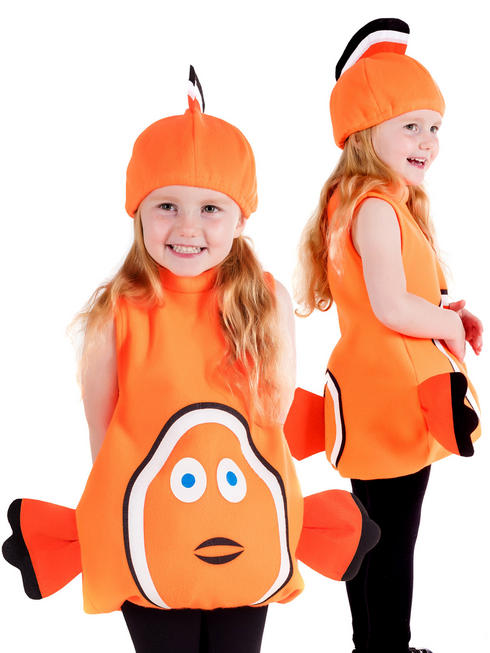 Child's Toddler Clown Fish Costume