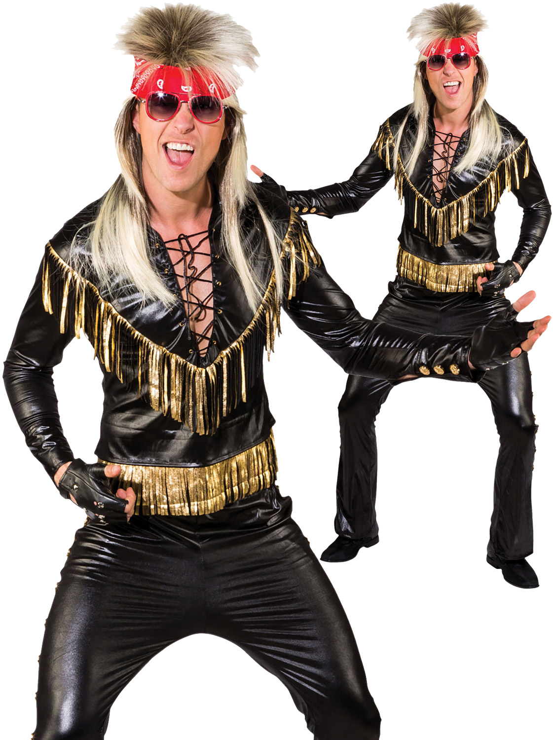 Mens rock star costume adults 80s rocker kiss fancy dress 1980s transform yourself into a rock star with this mens kiss themed rocker costume perfect for an 80s party solutioingenieria Image collections
