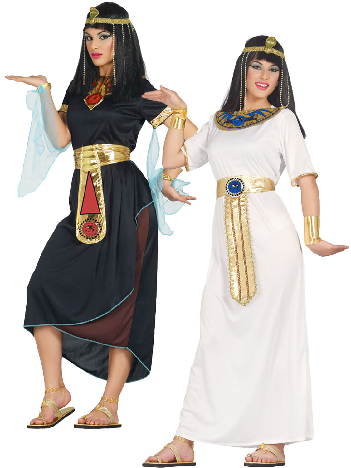 Ladies cleopatra costume egyptian toga fancy dress womens ancient transform yourself into an egyptian queen with either of these ladies cleopatra costume perfect for a themed fancy dress party solutioingenieria Choice Image