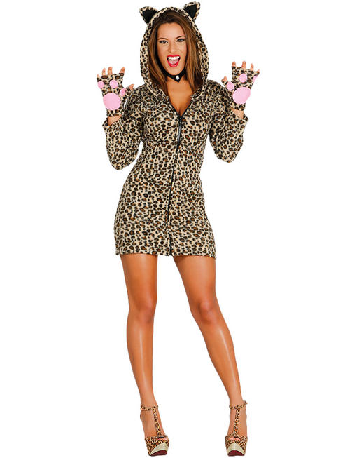 Ladies Leopardess Costume