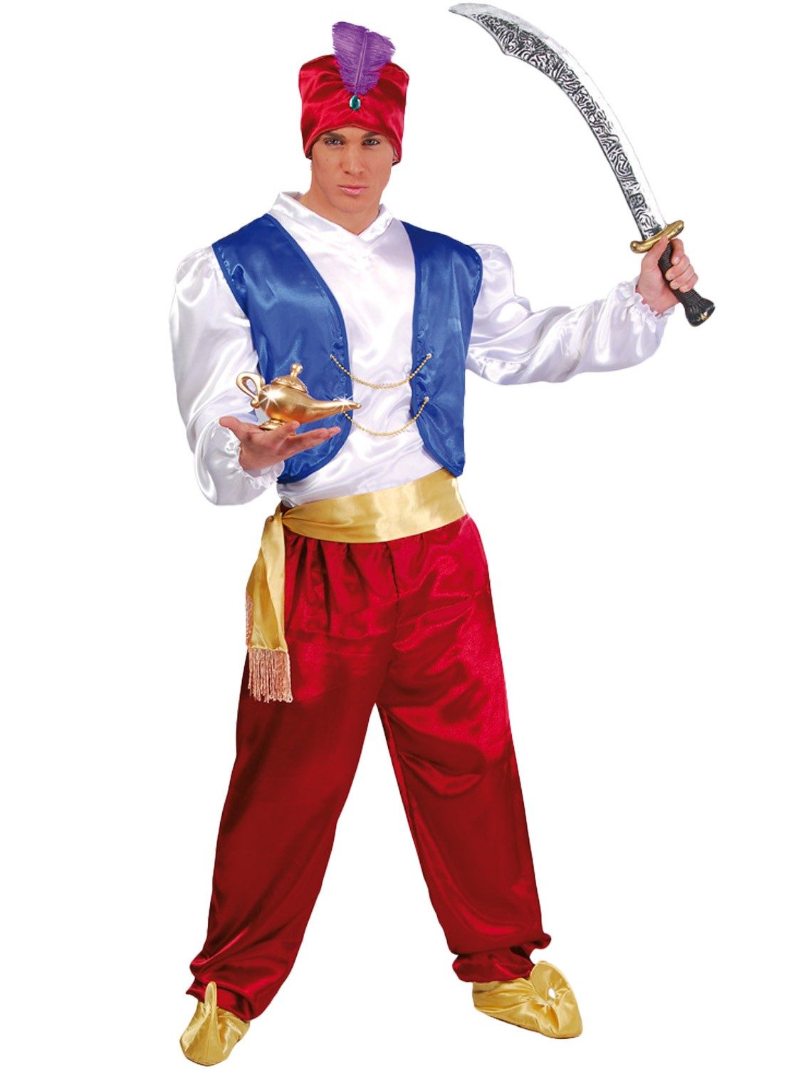 Mens genie costume adults aladdin fancy dress arabian prince transform yourself into a genie with this mens aladdin themed costume perfect for the schools book week day solutioingenieria Images