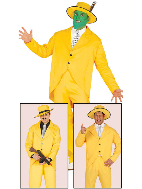 Men's Yellow Gangster Costume